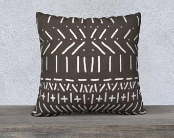 Mud Cloth Print Pillow Cover, Throw Pillow, Sofa Pillows, Tribal Look Pillow Cover