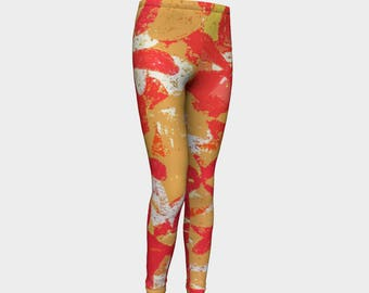 Tahitian Island Girls Leggings, Girls Leggings