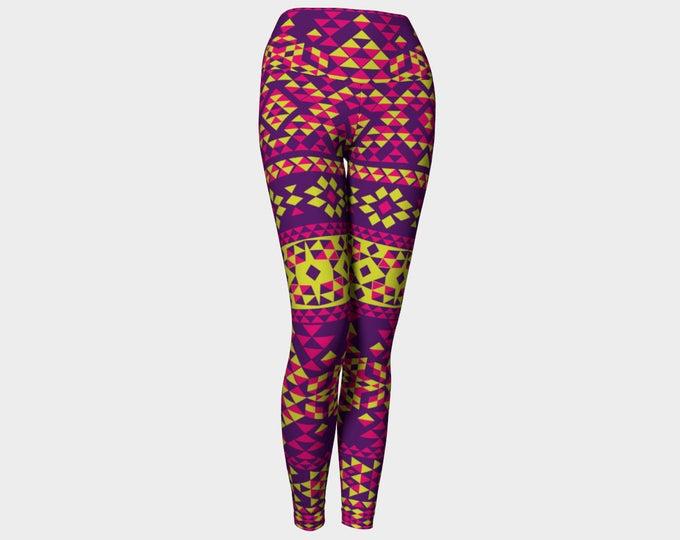 Scandinavian Yoga Leggings, Geometric Yoga Leggings, Yoga Leggings High Waist, Leggings, Yoga Leggings, Printed Leggings, Women's Leggings