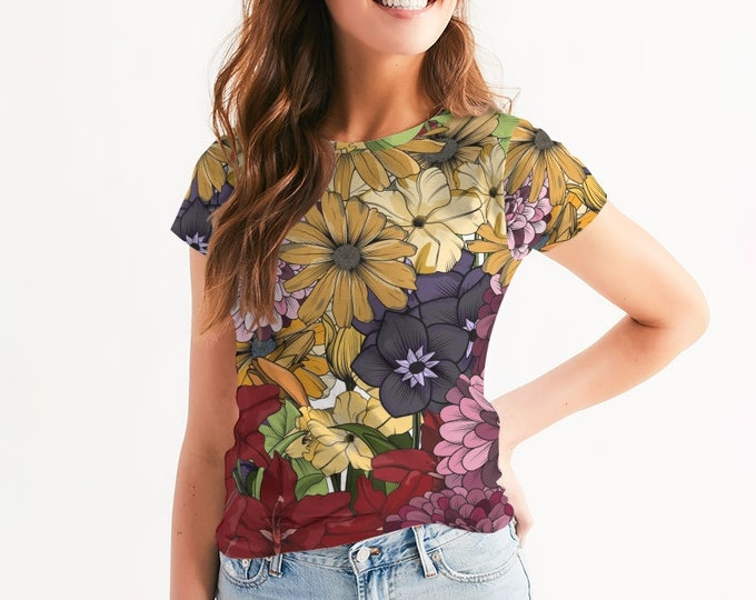 Featured listing image: Women's Floral Crew Neck Tee