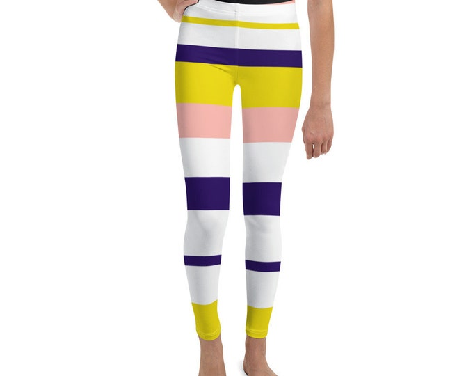 Girls Summer Stripe Leggings
