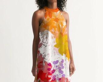 Summertime Flowers Women's Halter Dress