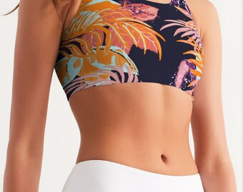 Gorgeous Jungle Women's Seamless Sports Bra