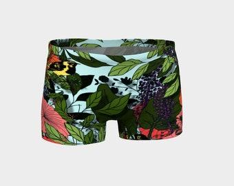Exotic Garden Yoga Shorts