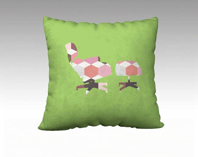 Lime Green Geometric Pillow Cover