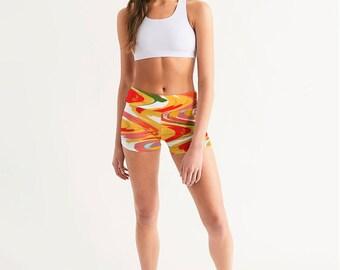 Ziggy Women's Mid-Rise Yoga Shorts