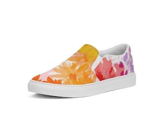 Women's Slip-On Canvas Shoes, Flower Power