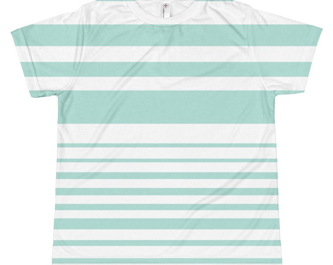 Kids Mint Striped T-shirt