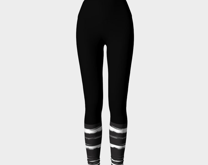 Black and White Yoga Leggings