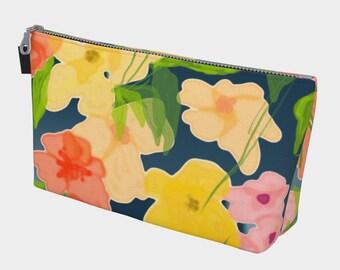 Midnight Garden Makeup Bag, Cosmetic Bag, Makeup Bag, Travel Bag, Bachelorette Gift, Gift for Her