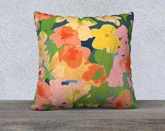 Midnight Garden Pillow Cover, Decorative Pillow, Sofa Pillow
