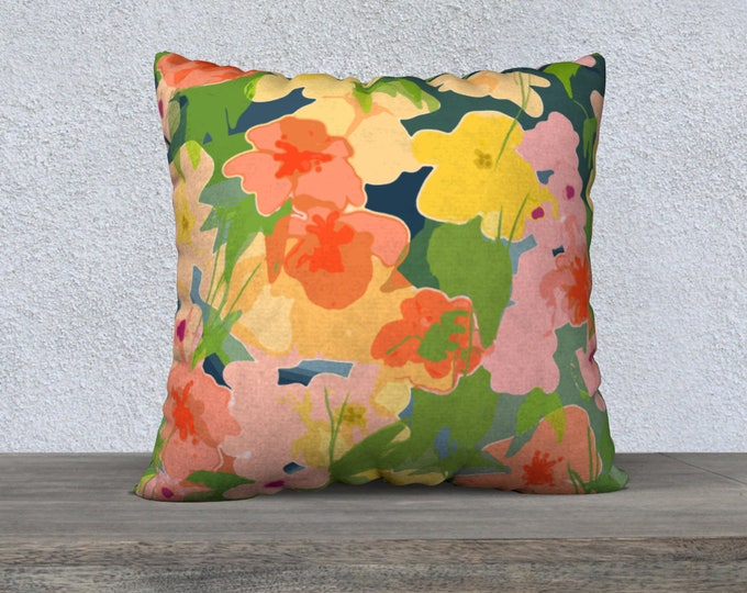 Midnight Garden Pillow Cover, Decorative Pillow, Sofa Pillow