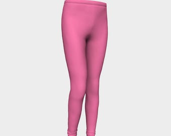 Girls Leggings, Pink Bubble Gum Leggings, Girls Yoga Leggings, Leggings, Girls Clothes, Back to School Leggings, Girls Yoga Pants