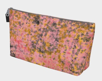 Splattered Makeup Bag, Cosmetic Bag, Travel Bag, Bachelorette Gift, Gift for Her, Mother's Day Gift