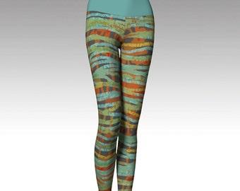 Plaid Leggings, Modern Leggings, Printed Leggings, Yoga Pants, Yoga Leggings, Women's Leggings