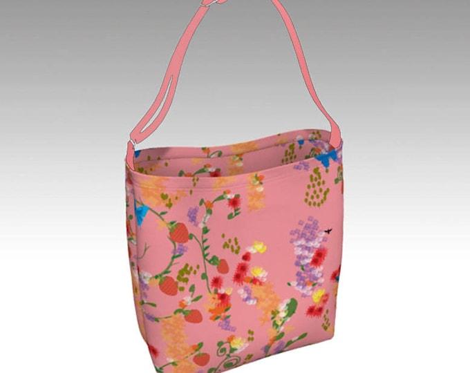 Pink Garden Tote Bag