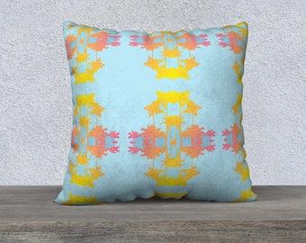 Malibu Palm Ikat Pillow Cover, Pillow Cover, Throw Pillow, Sofa Pillow, Coastal Decor