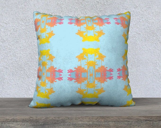 Malibu Palm Ikat Pillow Cover, Pillow Cover, Throw Pillow, Sofa Pillow, Coastal Decor