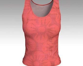 Pink Hibiscus Tank Top
