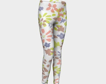Girls Leggings, Wild Flowers Leggings, Girls Yoga Leggings, Leggings, Girls Clothes, Dance Leggings, Girls Yoga Pants, Gift for Girl