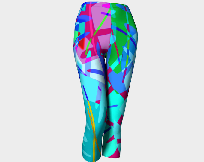 Tropical Punch Capri Leggings