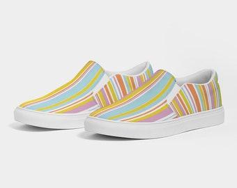 Women's Slip-On Canvas Shoe SummerStripes
