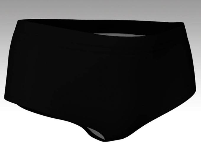 Midnight Black Mini Shorts, Solid Black Bikini Bottoms, Women's Shorts, Yoga Shorts, Swim Shorts, Swim Bottoms, Athletic Shorts