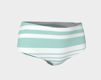 Mint Striped Bikini Bottoms