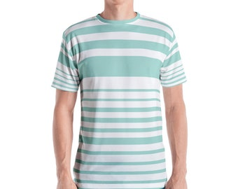 Mint Stripe Men's T-shirt