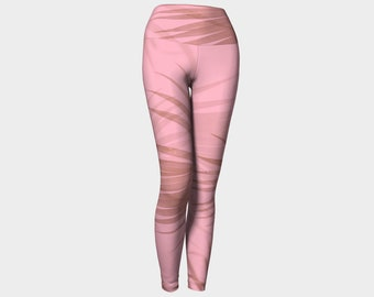 Blush Palms Women's Yoga Leggings