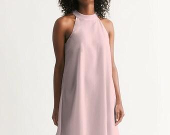 Delicate Pink Women's Halter Dress