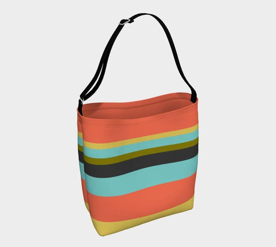 Classy Striped Large Tote Bag
