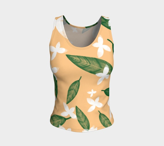 Leaves and Flowers Tank Top