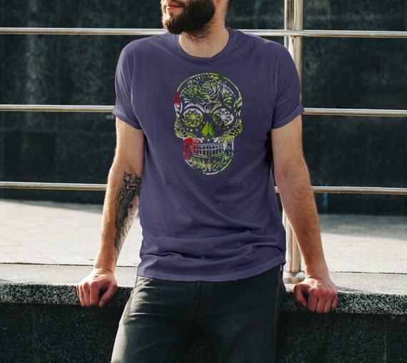 Cinco De Mayo Jungle Navy T-Shirt. Unisex Tee