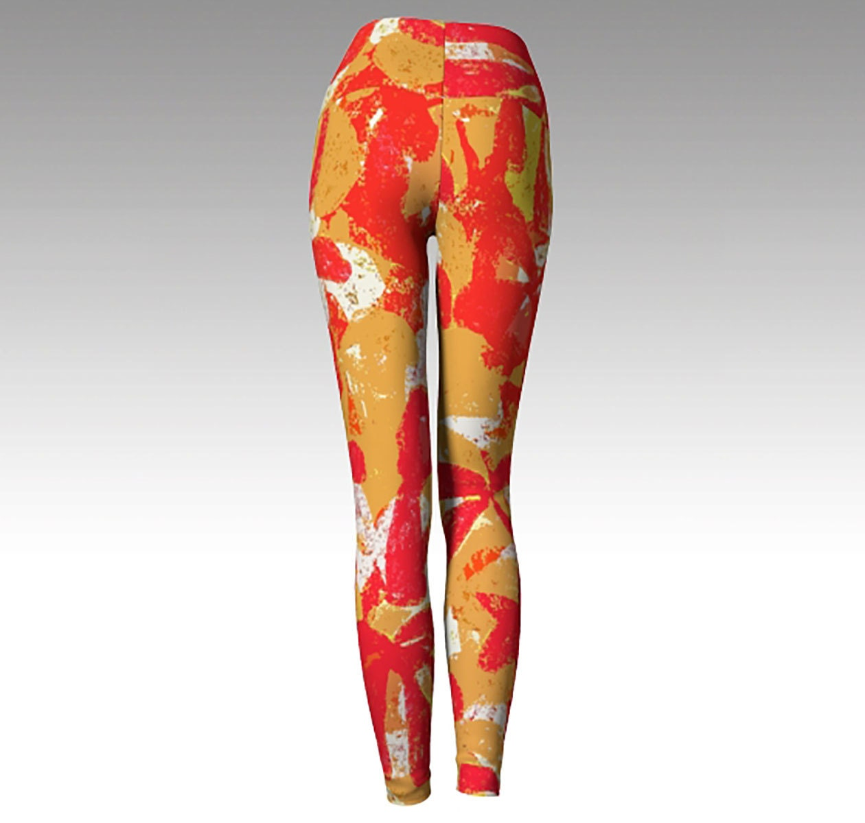 7c686a5e Kansas City Chiefs Leggings, Printed Leggings, Red and Gold Yoga ...