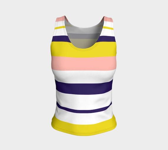 Striped Tank Top, Preppy Style Tank for women