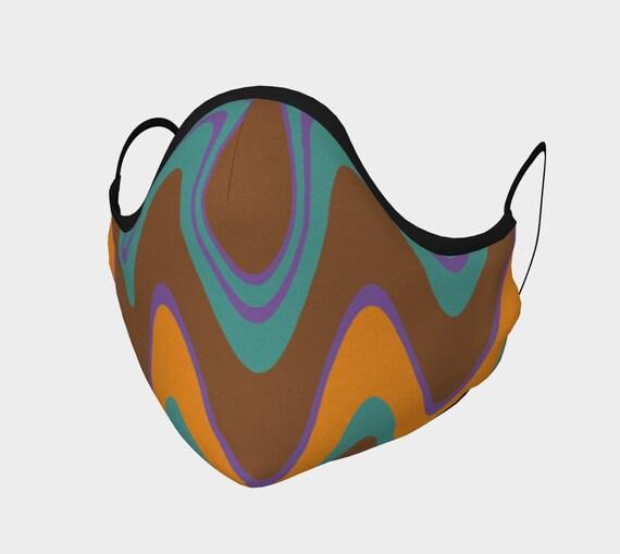 Groovy Face Mask, Retro Design Face Mask, Washable, Cloth Face Mask