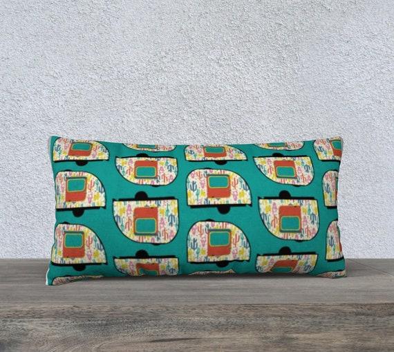 Vintage Desert Camper Pillow Cover