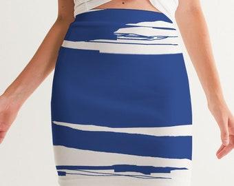 Women's Mini Skirt BlueSwath