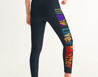 BLM Women's Yoga Pants Pantone Black 6C