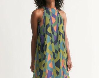 Groovy Retro Women's Halter Dress