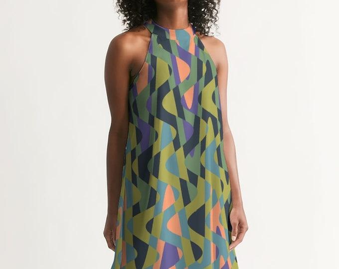 Featured listing image: Groovy Retro Women's Halter Dress