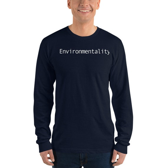 Environmentality Unisex Long sleeve t-shirt, Environmental Awareness, Fighting Climate Change
