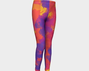 Girls Leggings, Rio Leggings, Carnival, Girls Yoga Leggings, Leggings, Girls Clothes, Dance Leggings, Girls Yoga Pants, Gift for Girl
