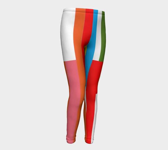 Girls Leggings, Juicy Fruit Multicolored Leggings, Girls Yoga Leggings, Leggings, Girls Clothes, Back to School Leggings, Girls Yoga Pants