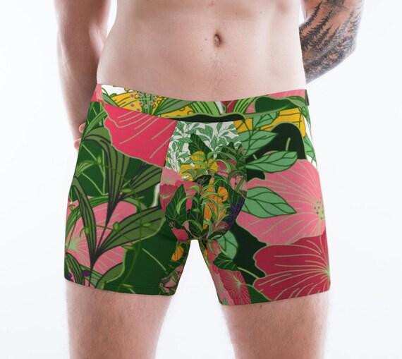 Poppy Flower Men's Boxer Briefs
