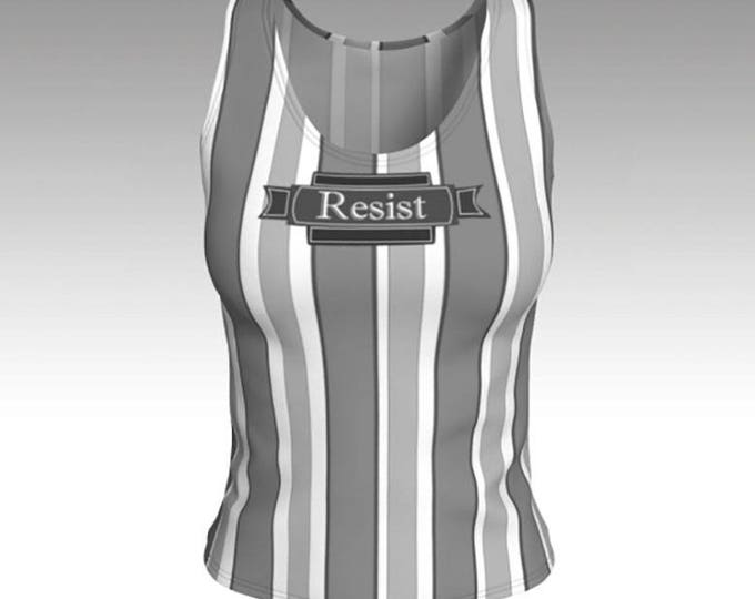 Tank Top, Typography Retro Gray and White Striped Tank Top, Gray Stripes, Tank Top, Swim Tank, Athletic Top, Yoga Top, Exercise Top, Gift