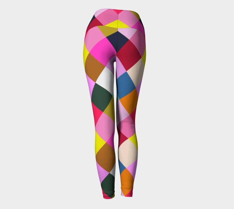 Harlequin Geometric Yoga Leggings Multicolor Leggings Women/'s Leggings Leggings Printed Leggings Yoga Leggings Geometric Yoga Leggings
