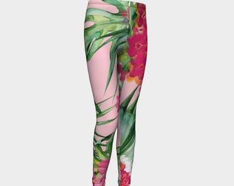 Tropical Girl Leggings, Girls Leggings, Girls Pants, Girls clothing
