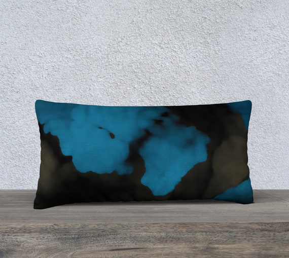 Stormy Blue Long Pillow Case